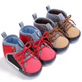 2017 Новый Малышей Baby Boy Обувь Лоскутная Кружева Детская Обувь Для Детей Мягкой Подошвой Впервые Ходунки Prewalker