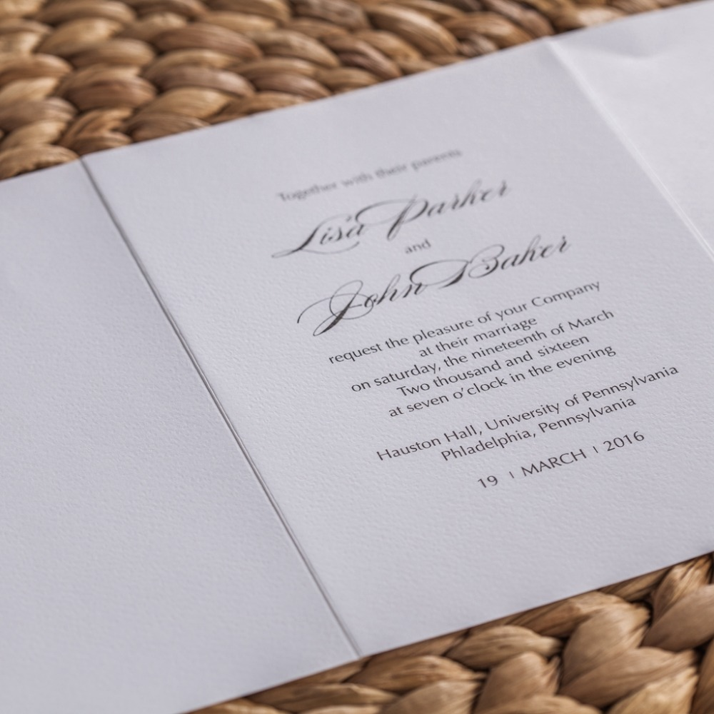 CW5178 floral embossed laser cut wedding invitation free shipping ...