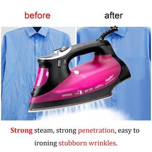 Image 5 - 2400W Digital High Quality Laundry Home Appliances Electric Steam Iron With LCD Display Soleplate Travel Iron Ironing Sonifer