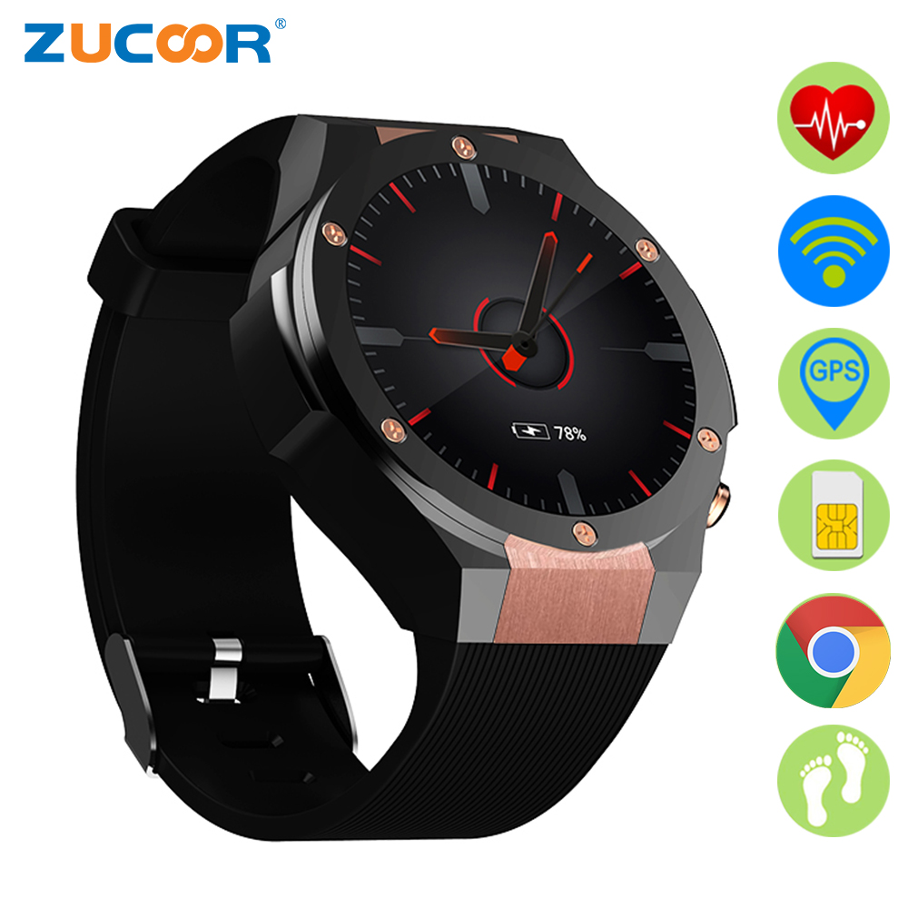 ZUCOOR GPS Smart Watch Android Watches RW62 Relogio Pedometer Fitness Women Smartwatch Phone Celular Men Smartphone Touch Reloj new x6 smartphone watch 1 54 curved touch screen smartwatch phone facebook sync mp3 pedometer smart watch anti lost watches
