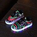 Moda caçoa as sapatilhas das meninas do menino crianças shoes usb de carregamento luminous iluminado tênis coloridos brilhantes sneakers crianças shoes