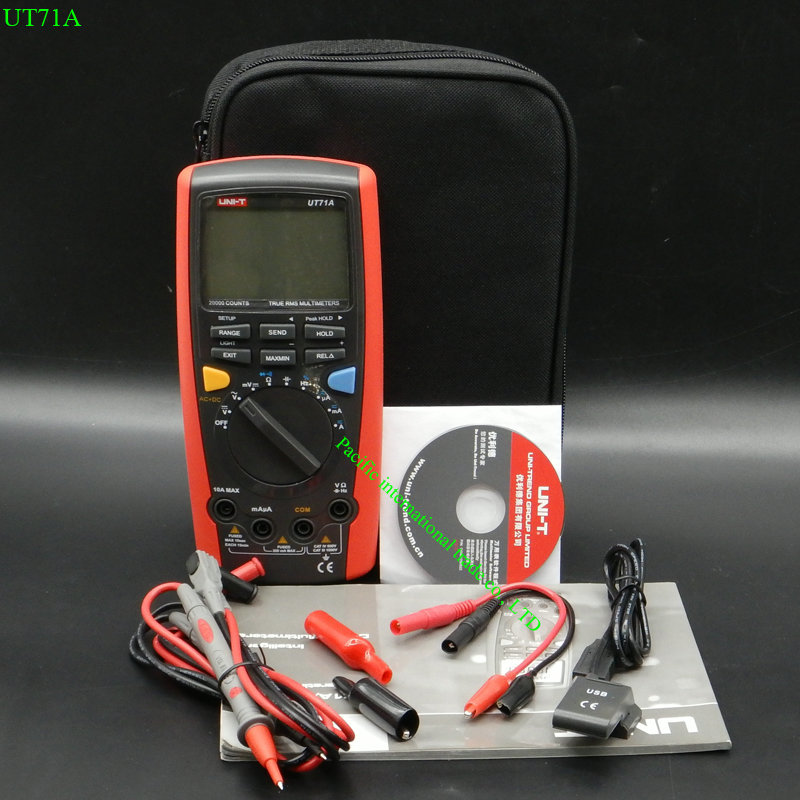 Intelligent Digital Multimeters UNI-T UT71A  CD Digital AC DC current voltage USB true REL Resistance Tester Ammeter Multitester uni t ut71b professional intelligent lcd digital ac dc current voltage meter usb true rel resistance tester ammeter multitester