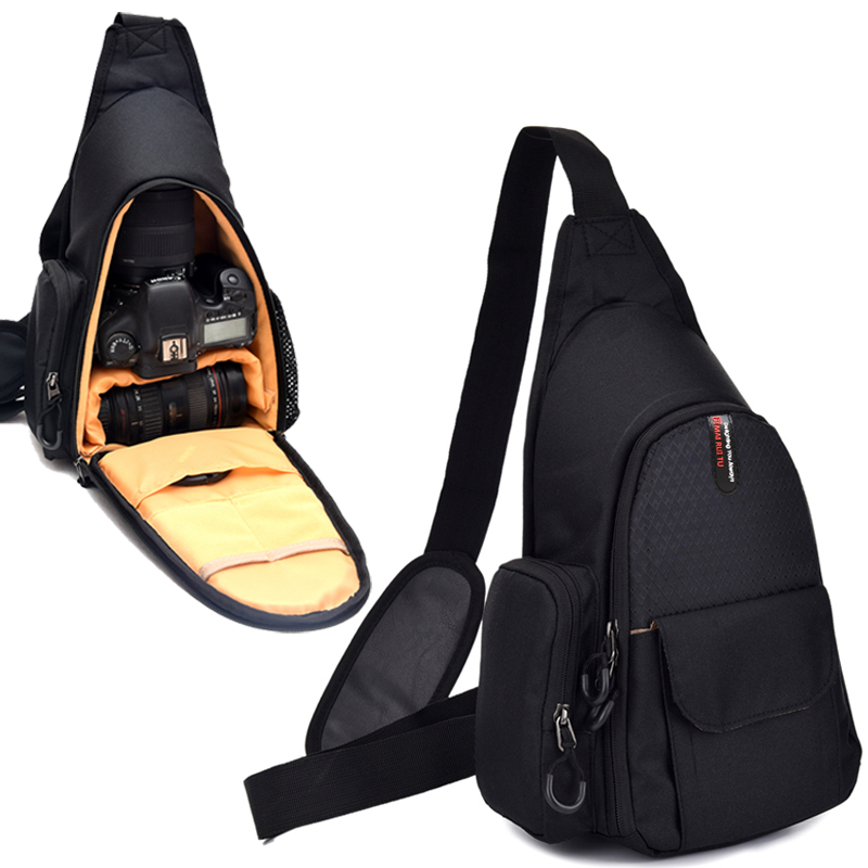 Cámara bolsa de hombro mochila pecho bolsa de mensajero para Canon EOS 200D 77D 70D 1300D 1200D 1100D 600D 650D 7D 760D 750D 700D