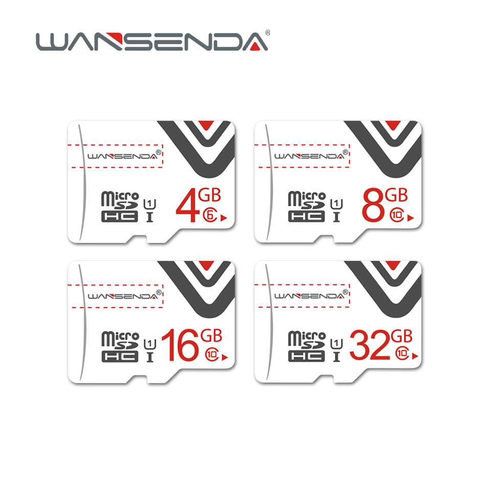Original WANSENDA Memory Card 8GB 16GB 32GB 64GB Micro Sd Card Class10 High Quality TF Card With Free Card Adapter