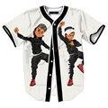 Hip Hop hombres camiseta impresa camisa del béisbol manga corta Streetwear estilo Coreano Harajuku Punky camisas jerseys divertido tops dropship
