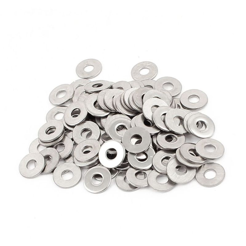 100pcs M3 3 mm metric 304 Stainless steel Flat washer A3T4 A4W8 image