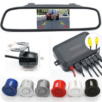 Car Parking Assistance 3IN1 Rear View Mirror Monitor + Backup Reverse Camera + Video Radar Detector Sensor Buzzer Alarm