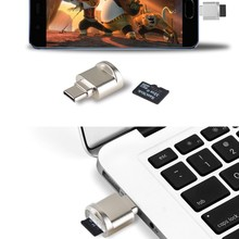 Micro SD TF кард-ридер USB 3,1 тип-c считыватели карт памяти из алюминиевого сплава OTG адаптер кард-ридер для Android