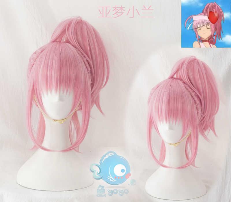 Аму Хинамори Косплэй парик Shugo Chara! Doki вечерние Мики СУУ побежал прямо косичку аниме розовый синтетических волос для взрослых