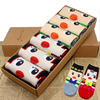 Free Shopping Women Girls Fun Cats Cartoon Sweet Animal Pattern Cotton Crew Floor Socks Including 6
