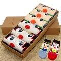 Compras libres mujeres niñas de gatos divertidos de la historieta dulce Animal algodón patrón Crew Socks calcetines del piso incluye 6 pares