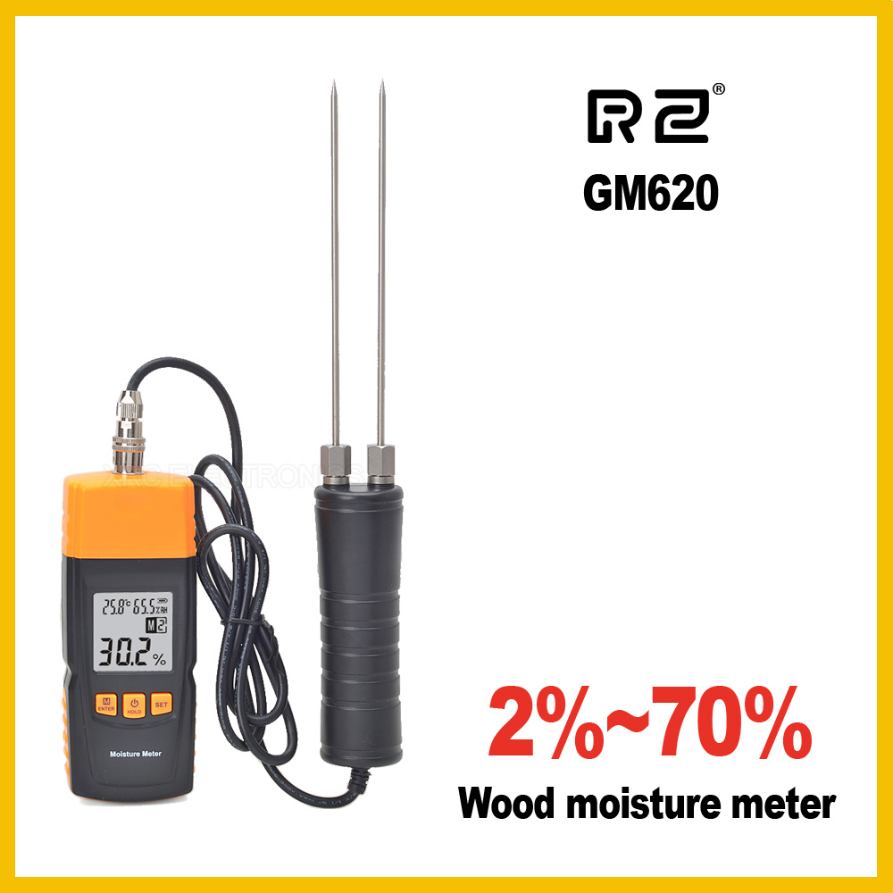 GM620  Wood Moisture Meter Adjustable for 4 tree species portable pin type wood moisture meter mc7806