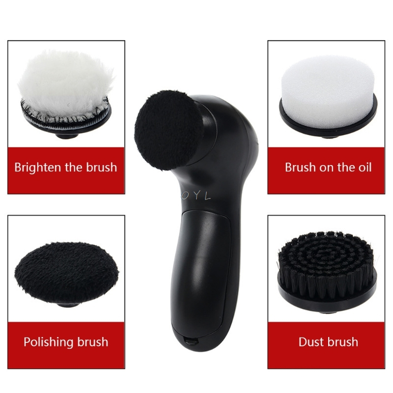 Handheld Automatic Electric Shoe Brush Shine Polisher 5AA Battery Power Supply