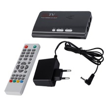 EU Plug With CRT and LCD HD 1080P With VGA Version DVB-T2 TV Box AV CVBS Tuner Receiver Remote Control Charger Compatible