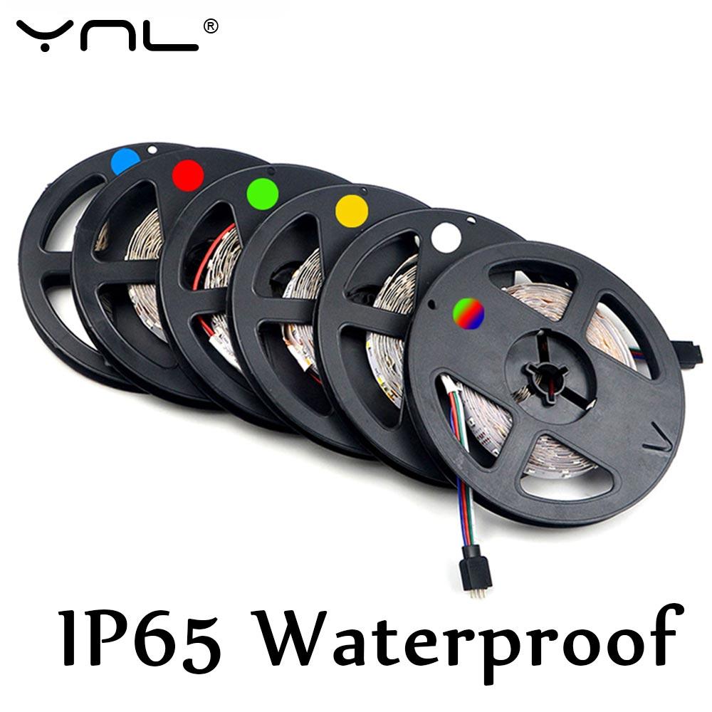 YNL RGB LED strip light Brand Waterproof 5m/lot 300LEDs 12V LED tape white/warm white/blue/green/red/RGB Flexible LED Light