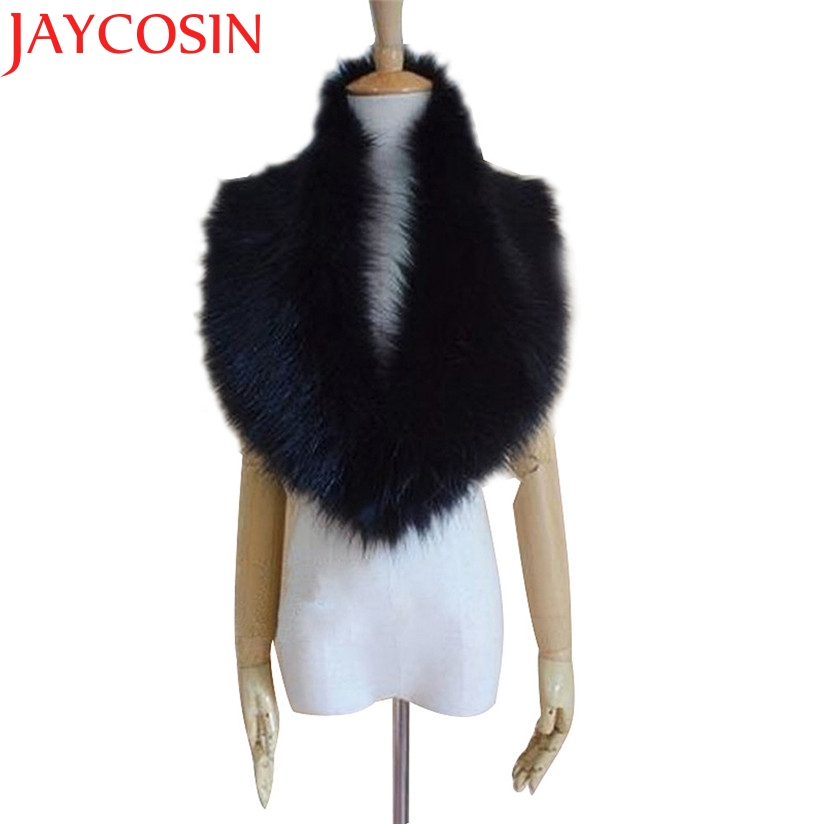 JAYCOSIN Marketing Womens Faux Fur Collar Scarf Shawl Collar Wrap Stole Scarves Drop Shipping