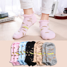 New Womens Sock Solid Color Invisible Socks Short Slippers Summer Thin non-slip Women