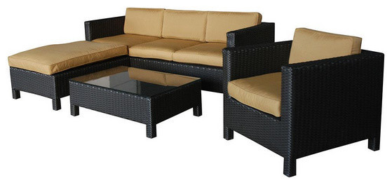 2017 Outdoor Furniture Wicker Patio Conversation Sets   Wicker Sofa Sets