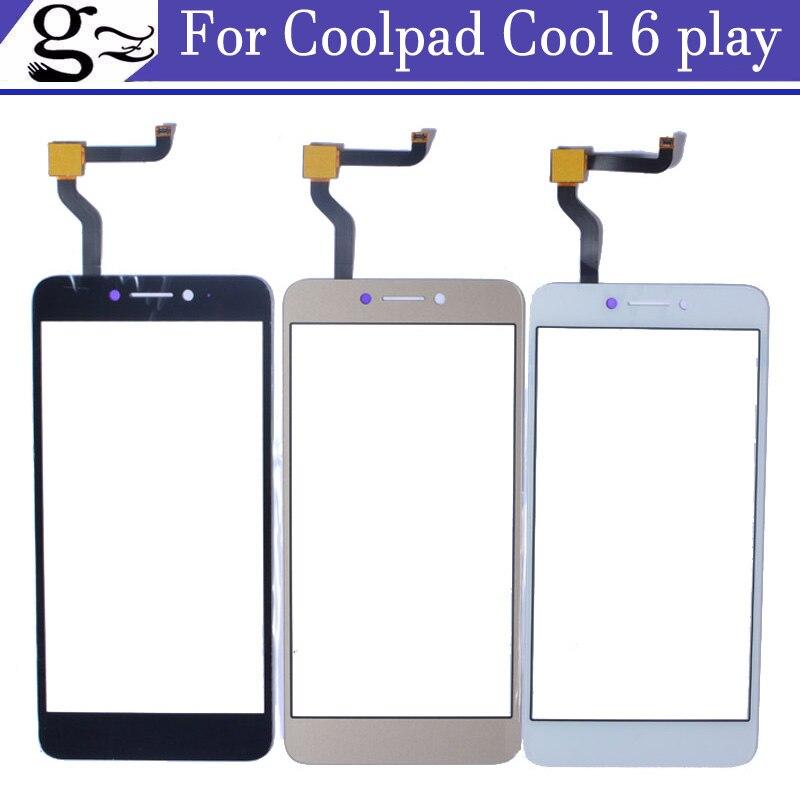 2pcs White Black Gold colour For Coolpad Cool 6 play Cool6 cool play 6 Touch Screen For Coolpad6 5.5 inch Cellphon
