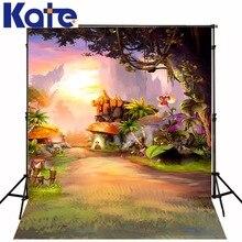 Kate fundo fotografia castelo crianças cenário floresta lavável e rugas livre pano de fundo a fotografia do fundo da foto