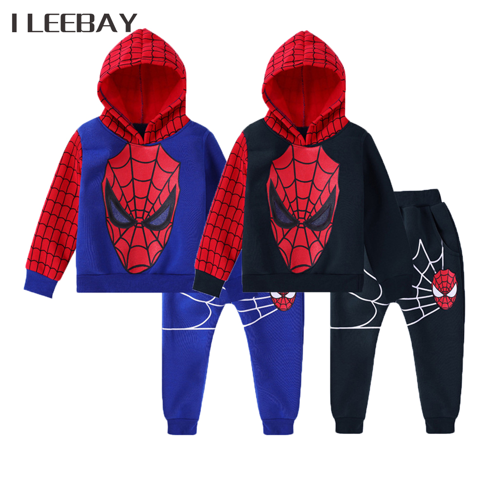 Spiderman Baby Boys Clothing Sets Cotton Cartoon Sports Suits Clothes Spring New Cosplay Costume Kids Outfits Hooded Tops+Pants spiderman suit children boys clothing set baby boy spider man sports suits kids clothing 2pcs sets spring autumn tracksuits
