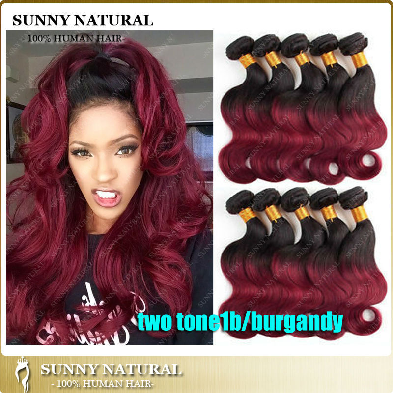 Dark Red Ombre Brazilian Weave Pictures to Pin on ...