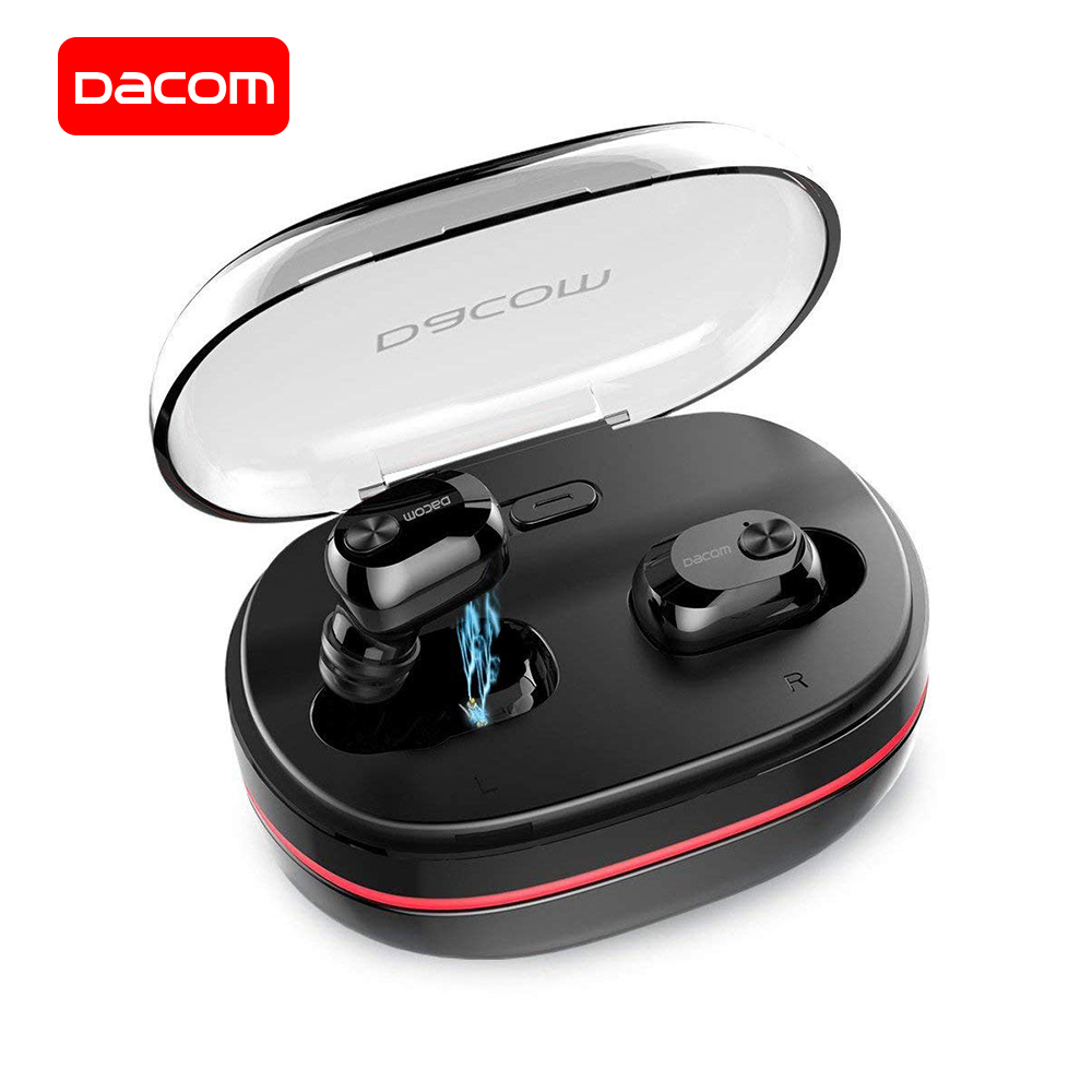 DACOM Bluetooth Earphones Wireless Earbuds In-Ear Mini Invisible Wireless Earphone Earpiece with Microphone for Samsung iPhone hoco e7 super small earpiece music earphone bluetooth in ear handsfree wireless earphones with microphone