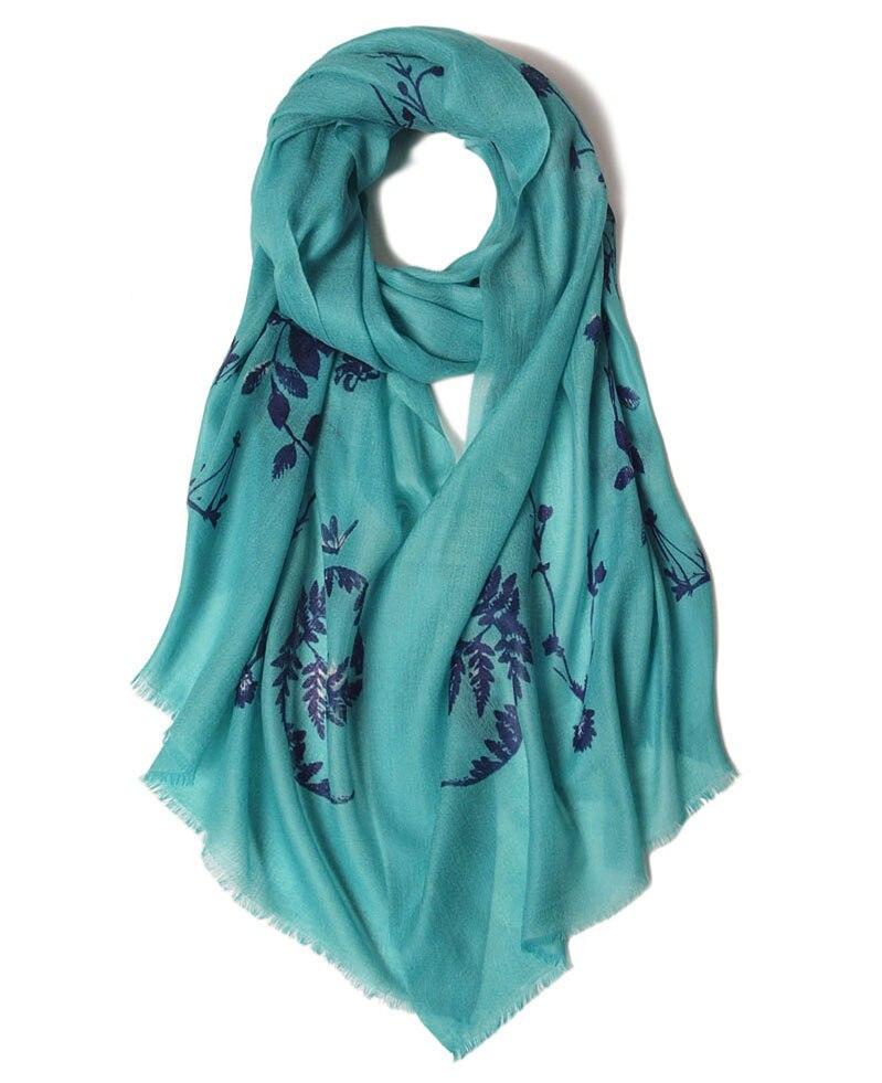 Классический винтажный шарф с принтом, 100% кашемировый женский модный элегантный большой шарф, шаль из Пашмина с маленькой бахромой 70x190 см, 14