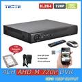 TEATE AHD-M H.264 gravador de 4 canais Sistema de CCTV AHD 720 P HDMI 1080 P dvr segurança 4ch vigilância de áudio com 1 TB TET-G04D7PB08