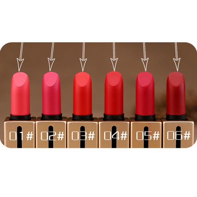 UBUB 8 Color Lipstick Matte Waterproof Magic Makeup Nude Lip Gloss Available Lip Cosmetic Korean Cosmetics