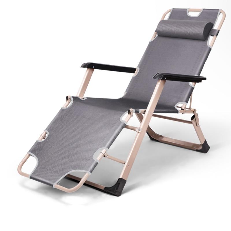 Doelstelling A1 Zware Klapstoel Draagbare Tuinmeubelen Veelzijdige Chaise Lounge Metalen Frame Opvouwbare Single Bed/cot Voor Camping