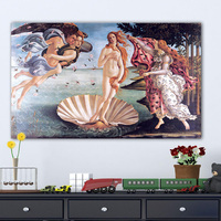 Large Pop Art Posters and Prints Acylic Canvas Pictures Birth of Venus Oil paintings for Living Room Wall No Framed Home Decor