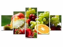 5 Panel Modern Printed Delicious Fruit pie series Painting Picture Canvas Art for Living Room No Frame /still life-48