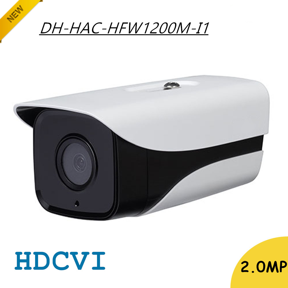 New Arrival DH 2Mp HDCVI Camera HD 1080P DH-HAC-HFW1200M-I1 Network IR Bullet Security CCTV Camera IP67 HAC-HFW1200M-I1 dahua 2mp hdcvi camera cctv 1080p water proof ip67 hac hfw1200s bullet camera lens 3 6mm ir leds length 30m mini security camera