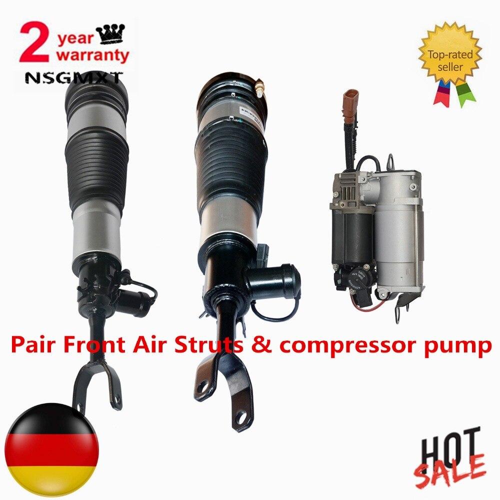 AP01 Par A6 S6 Frente Struts & bomba compressor de Ar Para Audi Allroad quattro Avant C6/4F 4F0616005 4F0616039AA