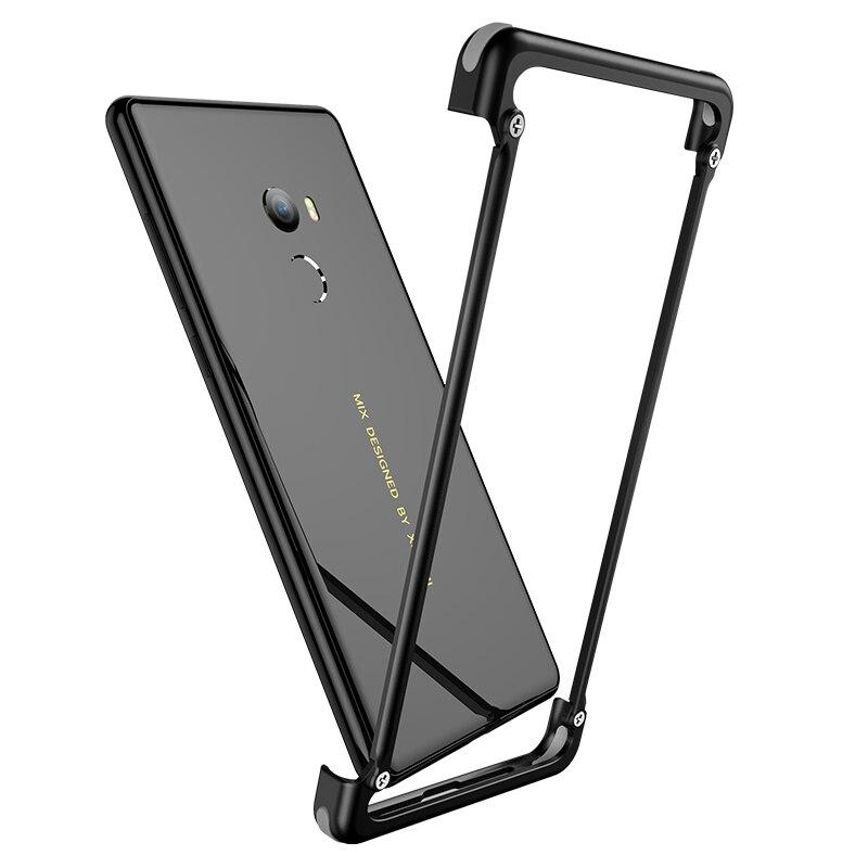 OATSBASF Luxury Original Airbag Metal Case For Xiaomi MI Mix 2 Case Personality Metal Bumper Cover Slim Case For Xiaomi MI Mix 2