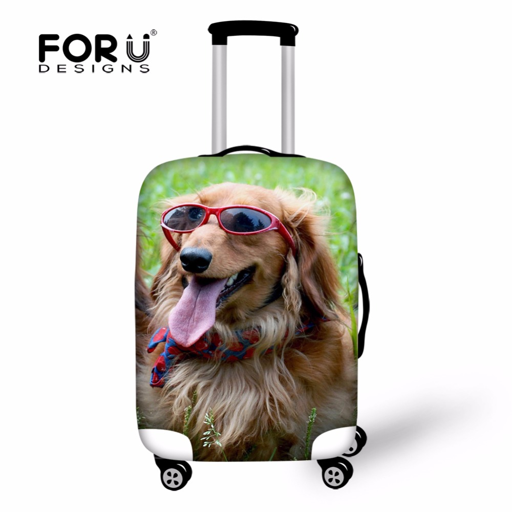 Dustproof Anti Dust Cover for 18-28 Inch Trolley Suitcase,Elastic 3D Animal Printing Protect Travel Luggage Covers Large Size