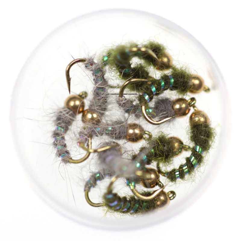 Nowa dostawa 6 sztuk/zestaw miedzi John koralik głowy książę nimfa muchy pstrąg Fly przynęta na ryby #12