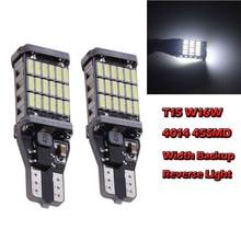T15 W16W 2Pcs  4014 45SMD LED Canbus Width Backup Reverse Light Bulb White 6500K 9W 900LM For Reverse Light Steering Bulb