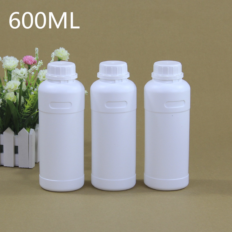 600ML Empty Plastic Bottles With Tamper Evident Lids Food Grade HDPE Material Liquid,Lotion,Reagent Container 5PCS/lot