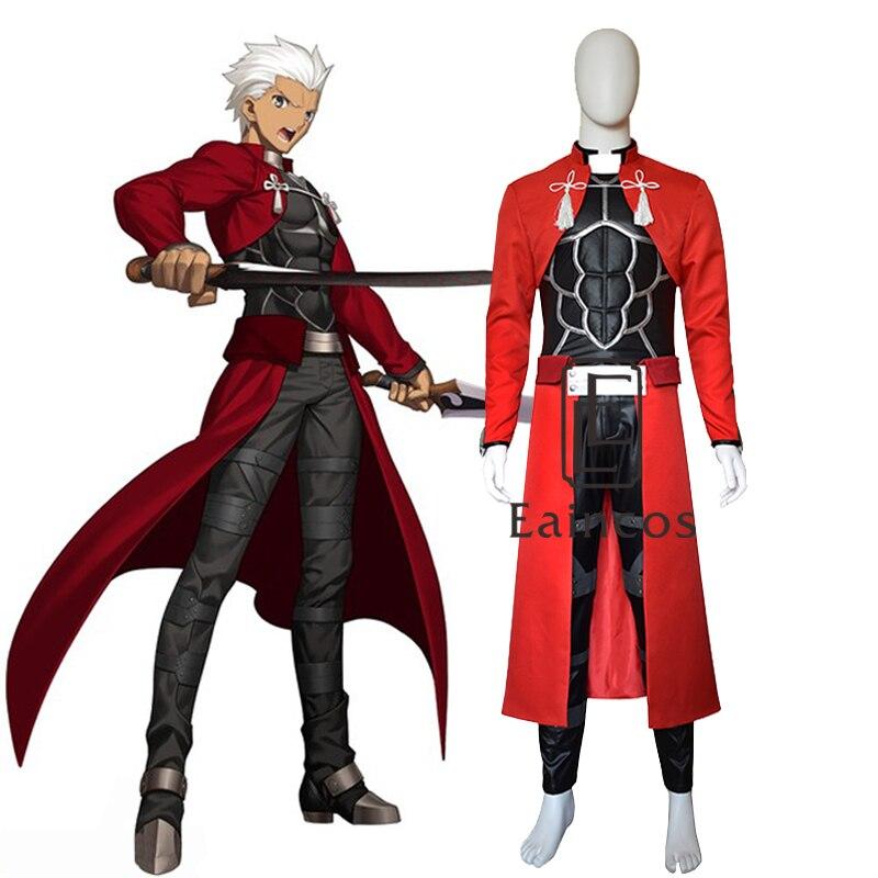 Fate stay Night Saber Emiya Archer Cosplay Costume Red Uniform Custom made