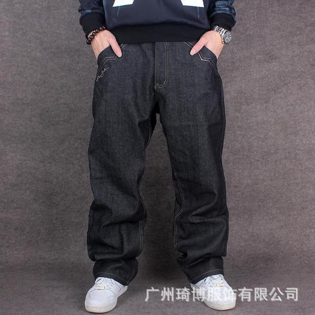 Nuevo Bordado De La Manera Skater Jeans Para Hombre Baggy Jeans Para Hombre Hip Hop Pantalones Anchos De La Pierna Pantalones De Mezclilla Hombres Mas El Tamano 42 44 Denim Pants Men Jeans Men