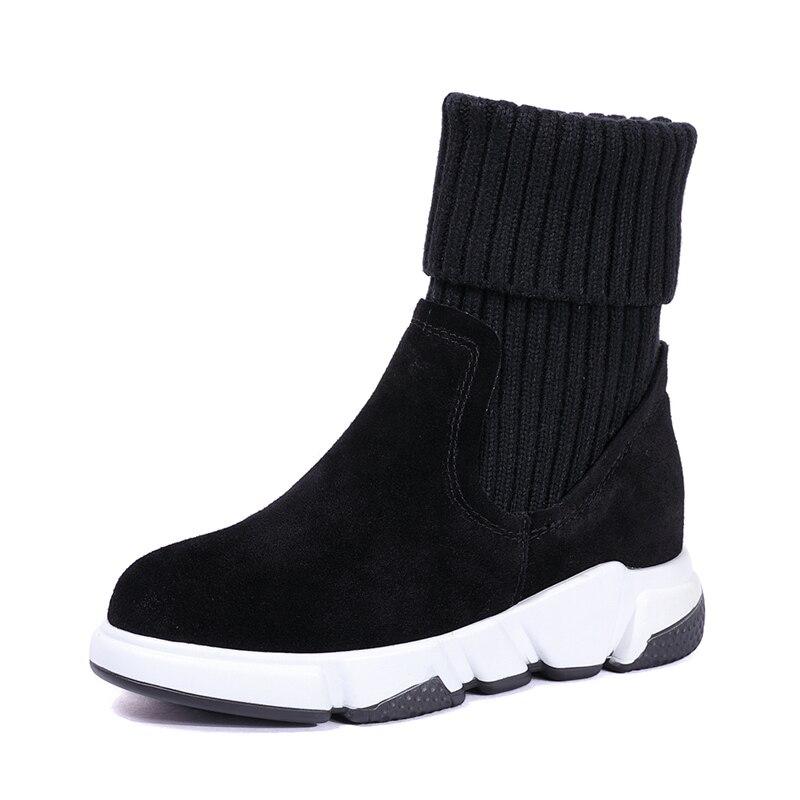 fde80671595f Lippi Automne L'intérieur En Chaussures black Femmes mibadanripiri hiver  Épais Martin Bottes Velvet À Coton ...