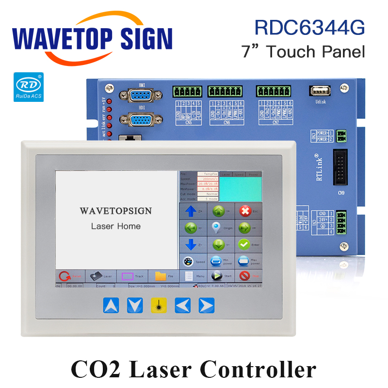 WaveTopSign Ruida RDC6344G 7 Touch Panel Laser Machine Controller System for for Laser Engraving and Cutting