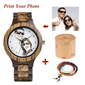 Часы BOBO BIRD Wood с УФ-печатью  мужские и женские кварцевые наручные часы с вашим фото  OEM подарочные часы по индивидуальному заказу  UV-C/D30