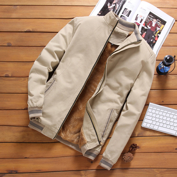 Mens Fleece Bomber Windbreaker Jacket 6