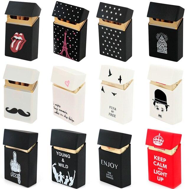 Удерживайте 20 сигарет дамы силиконовый портсигар Обложка человек для женщин курение сигаретный чехол на ремень карман Сигарет Пакет Обложка подарок