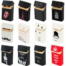 Hold 20 Cigarettes Ladies Silicone Cigarette Case Cover Man Women Smoking Cigarette Box Sleeve Pocke