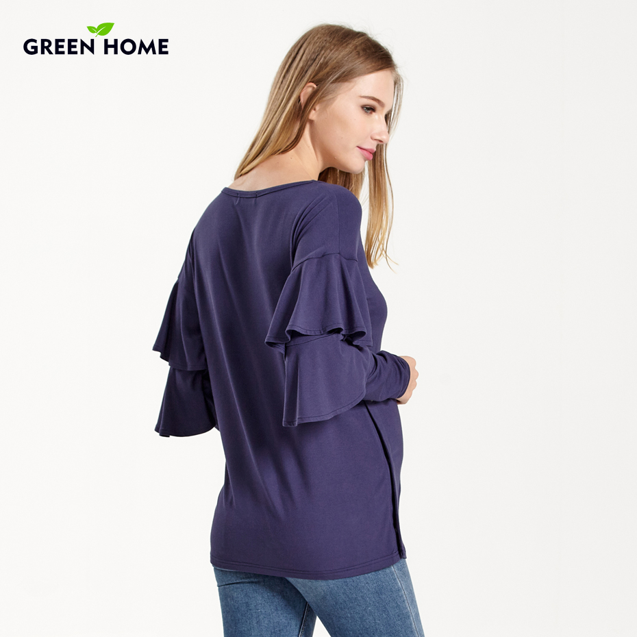 bc97508552cde Green Home Winter New Design Fashion Comfortable European Maternity Clothes Nursing  Knitwear Breastfeeding Cover For Pregnant -in Tees from Mother & Kids on ...