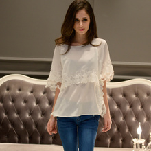 Dabuwawa women`s white polyester blouse